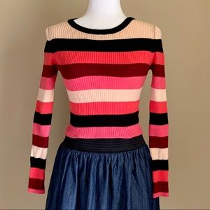 Forever 21 striped long sleeve sweater, Sz M